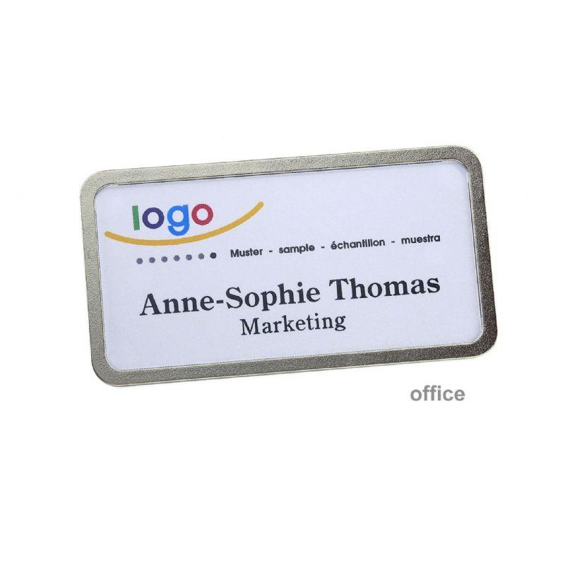 Plastic badgehouder