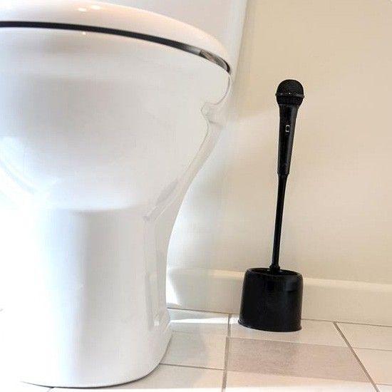 Microfoon toiletborstel