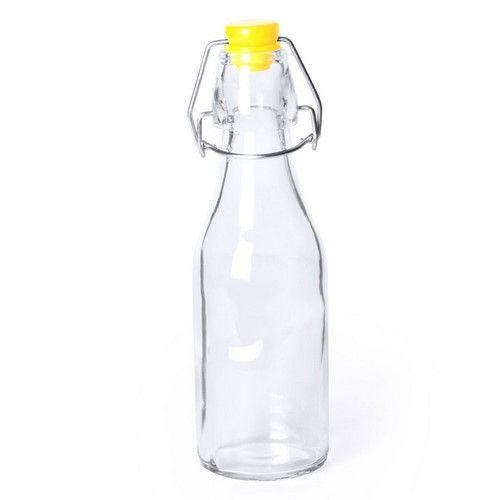 Herbruikbaar glazen flesje met kleurrijke dop