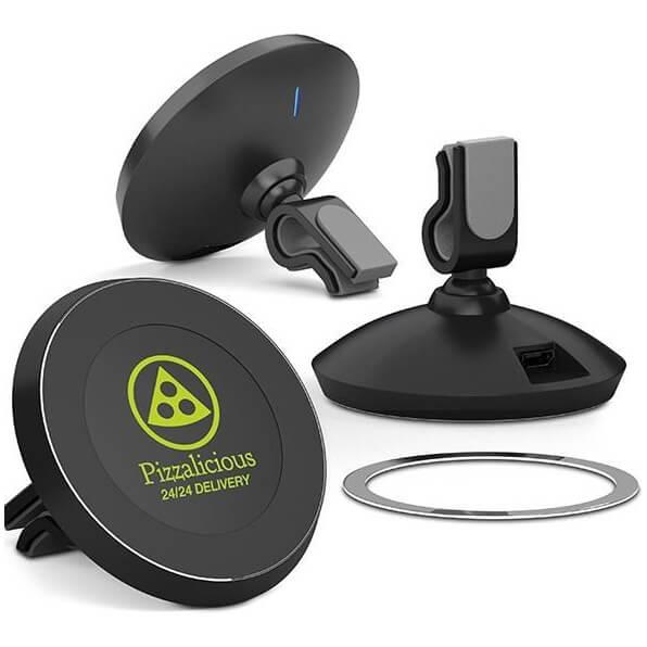 Magnetische telefoonhouder met draadloos opladen