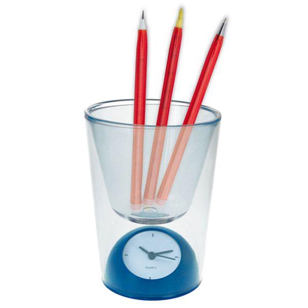 Pennenbakje met klok