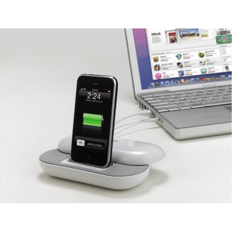 iPhone docking station met speakers en hub