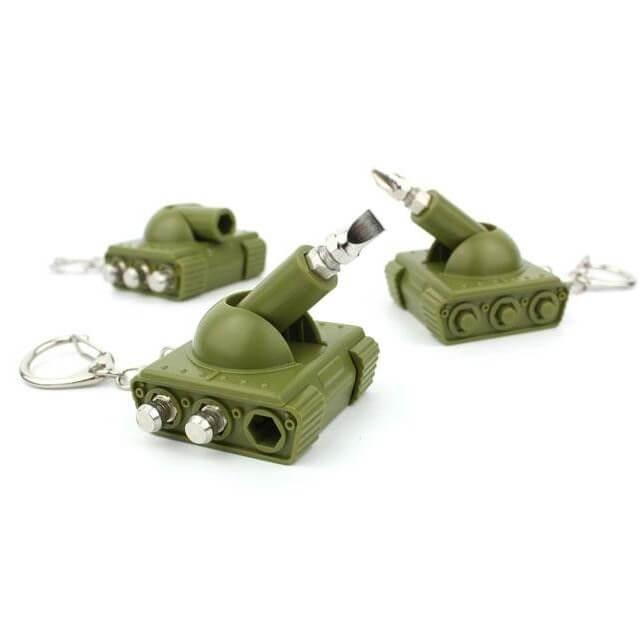 Mini schroevendraaier in de vorm van een tank