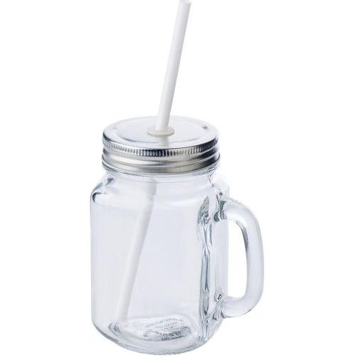 Glas met rietje