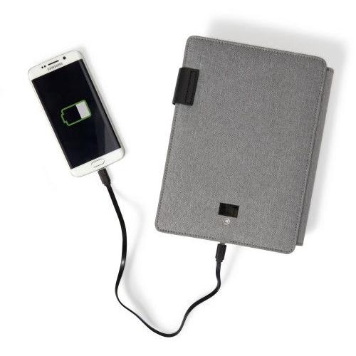 Schrijfmap met noodbatterij