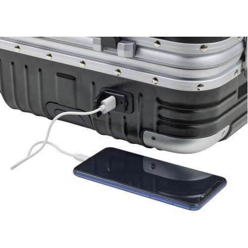 trolley met fleshouder en USB poort