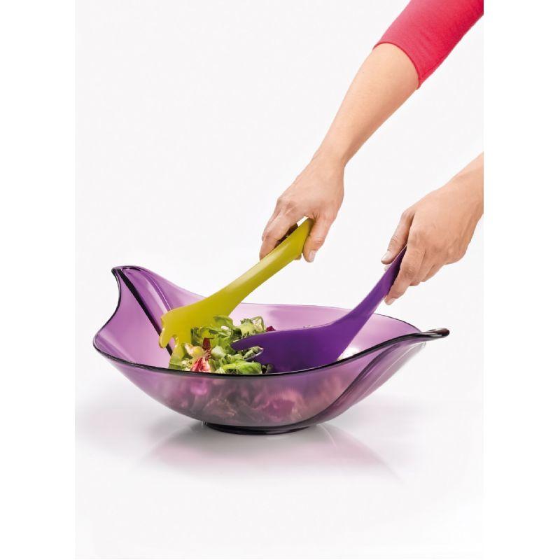 Leaf saladekom met toebehoren