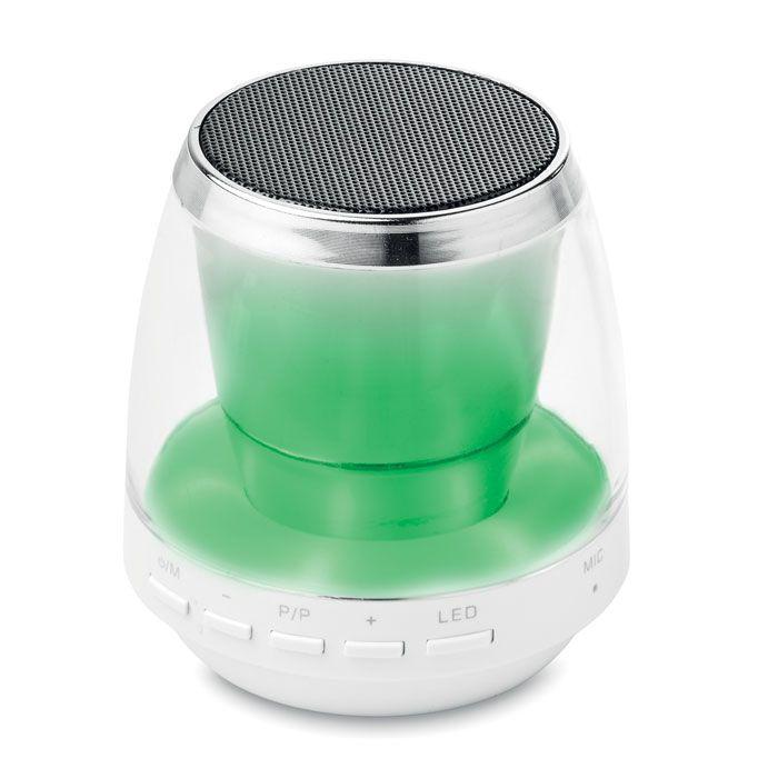 Bleutooth speaker, FM radio en sfeerverlichting in één