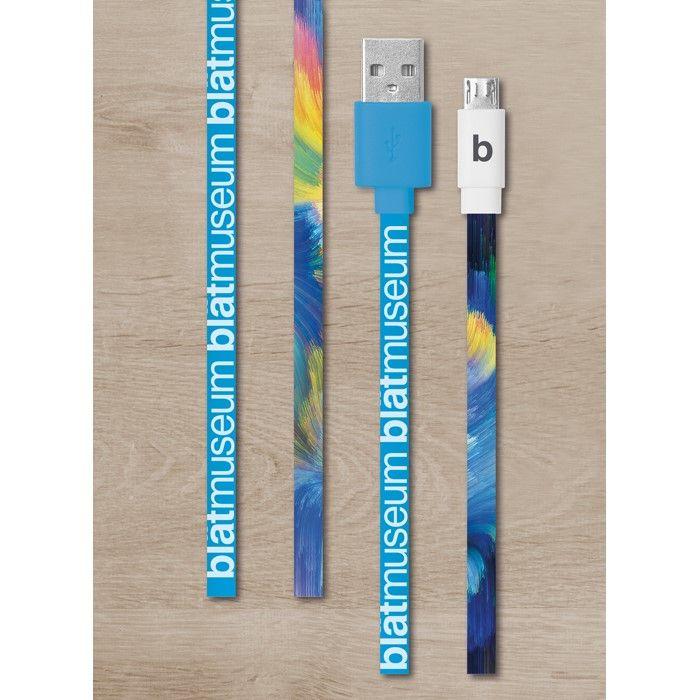Full colour bedrukte laadkabel