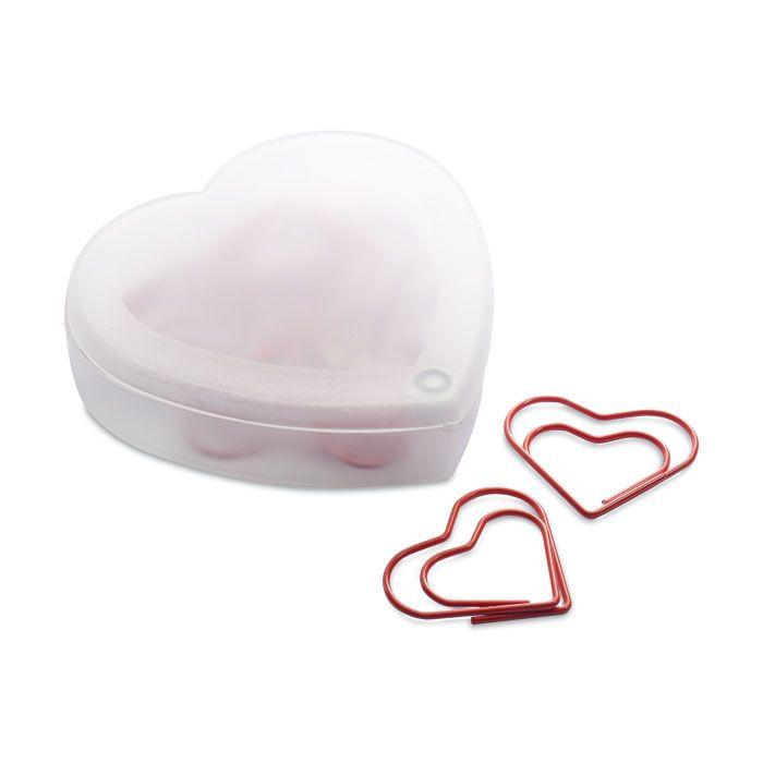 Hartvormige clips in doosje