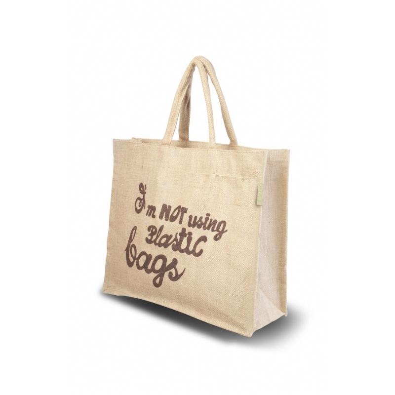 Jute shopper model Slogan