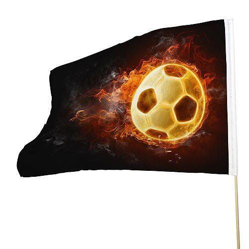 Grote vlag voor supporters