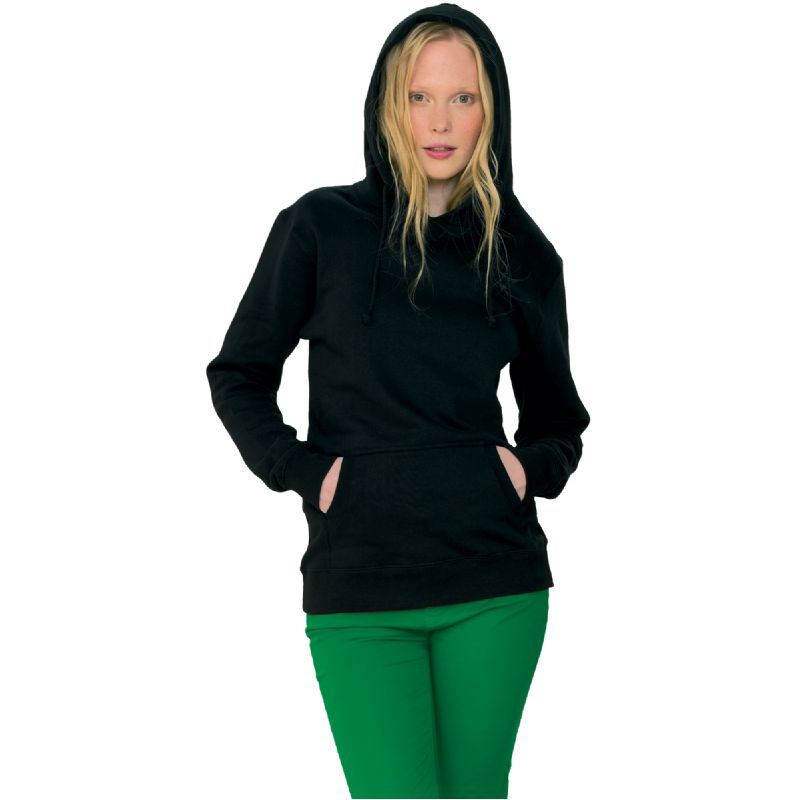 Organisch katoenen capuchon sweater dames