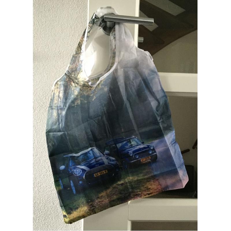 Opvouwbare boodschappentas met foto