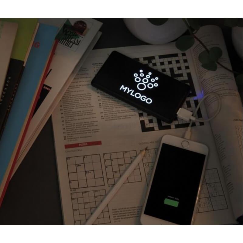 Powerbank 4000 mAh met oplichtend logo