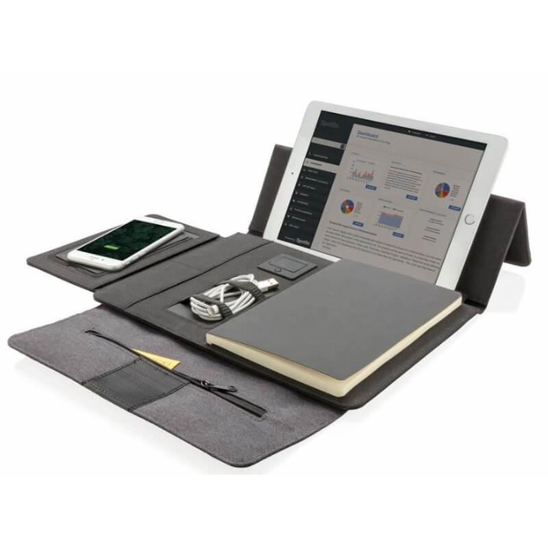 Tablet portfolio met draadloze oplader