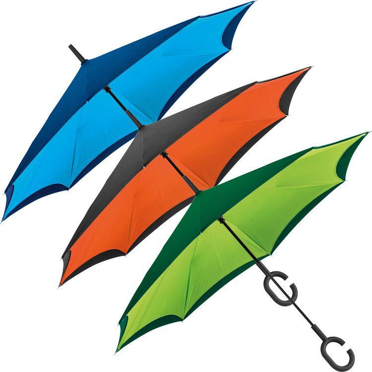 Handige omkeerbare paraplu