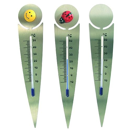 bloempot thermometer