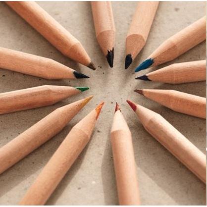 Potlood in kleur met zaadjes