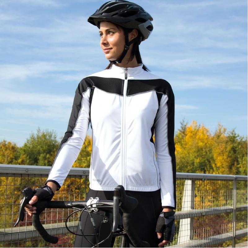 Dames fietsshirt lange mouw