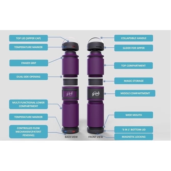 2-in-1 vacuum thermosfles in strak design